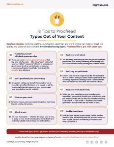 Checklist: 8 Tips to Proofread Typos Out of Your Content